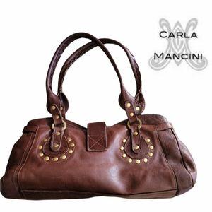 Carla Mancini Leather Baguette Soulder Handbag